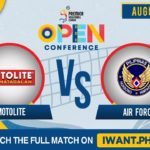 LIVE: SET 1   Motolite vs. Air Force   August 28, 2019 (Watch the full game on iWant.ph)
